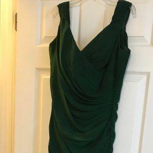 Christina Wu Bridesmaids Dress 22622 Hunter Green
